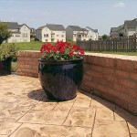 Stamped Concrete Patios by Big Rock Construction Bristow Virginia